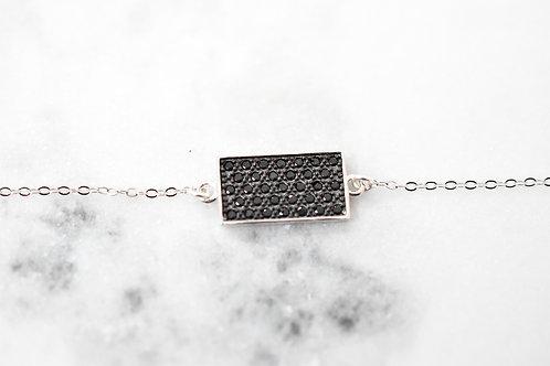 Bracelet Rectangle oxyde noir