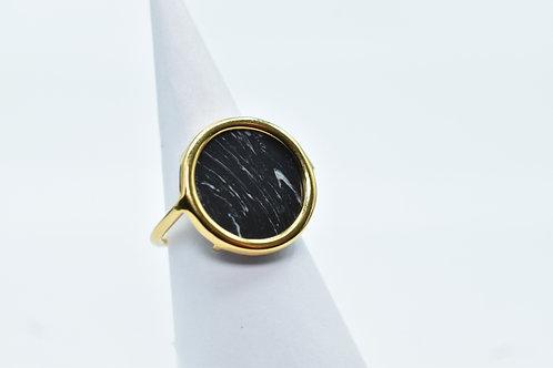 Black Howlite Volta Ring