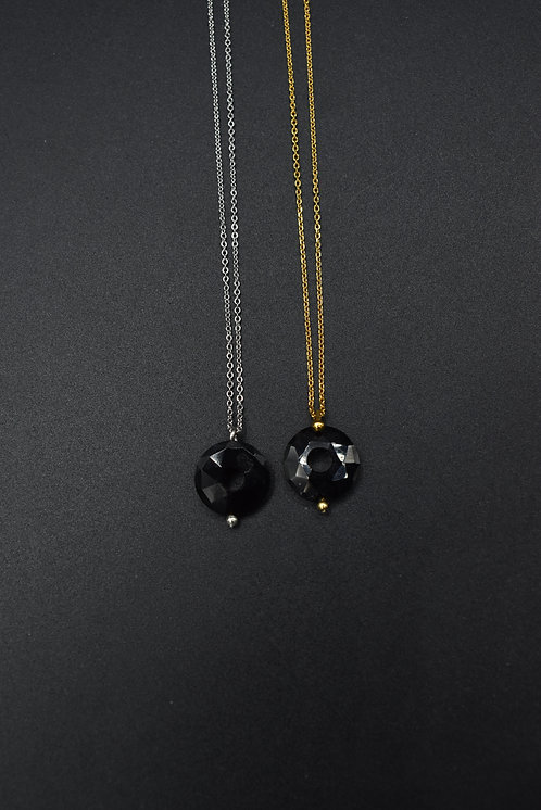 Donuts Onyx Necklace