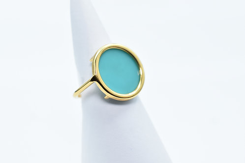 Bague Volta Agate Turquoise