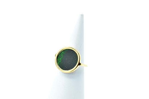 Bague Volta Green Sand stone