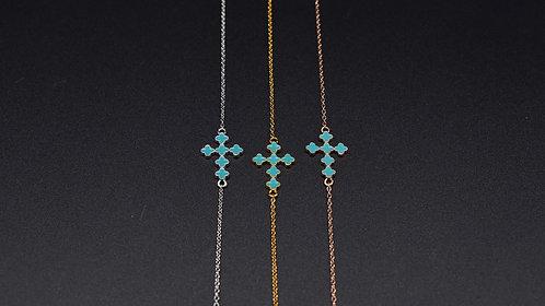 Turkish enamel cross bracelet