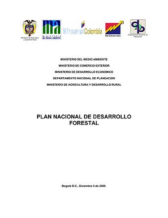 Plan Nacional de Desarrollo Forestal 200