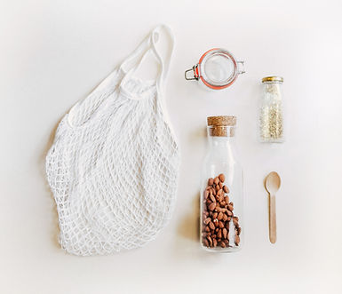 Net Bag and Glass Jars