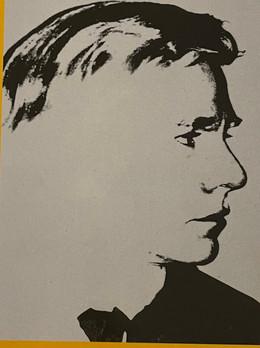 Self portrait, 1977, screenprint on paper, 60x50cm Private Collection Stefano Pirrone Padua