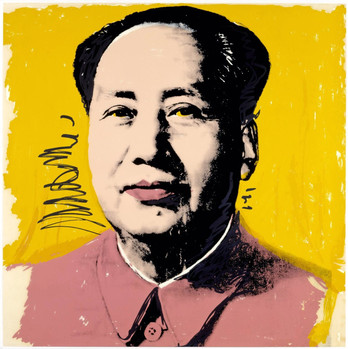 Mao, 1972, Screenprint on white paper, signed and numbered P.P, 91,4x91,4cm Private Collection Stefano Pirrone Padua