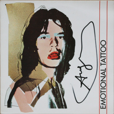 Rolling Stones guitar, Emotional Tatoo cover, 1982. Private collection Marco Rettani Switzerland