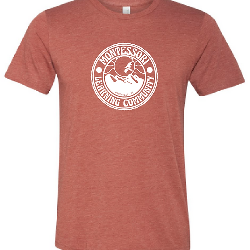 Adult Tee: Heathered Brick Red