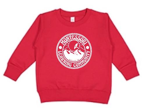 Children's Crew Sweatshirt: Red