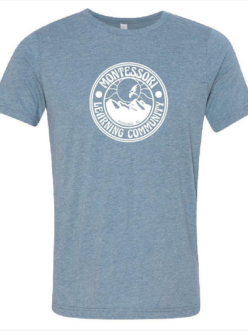 Adult Tee: Heathered Blue