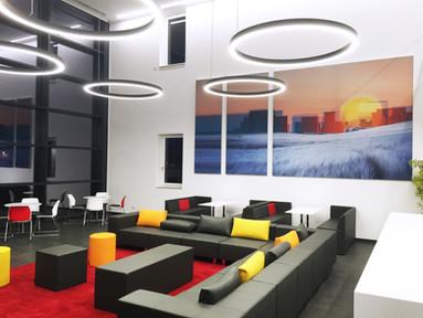 Akustik-Wandbilder für die neue Norma-Firmenzentrale in Fürth