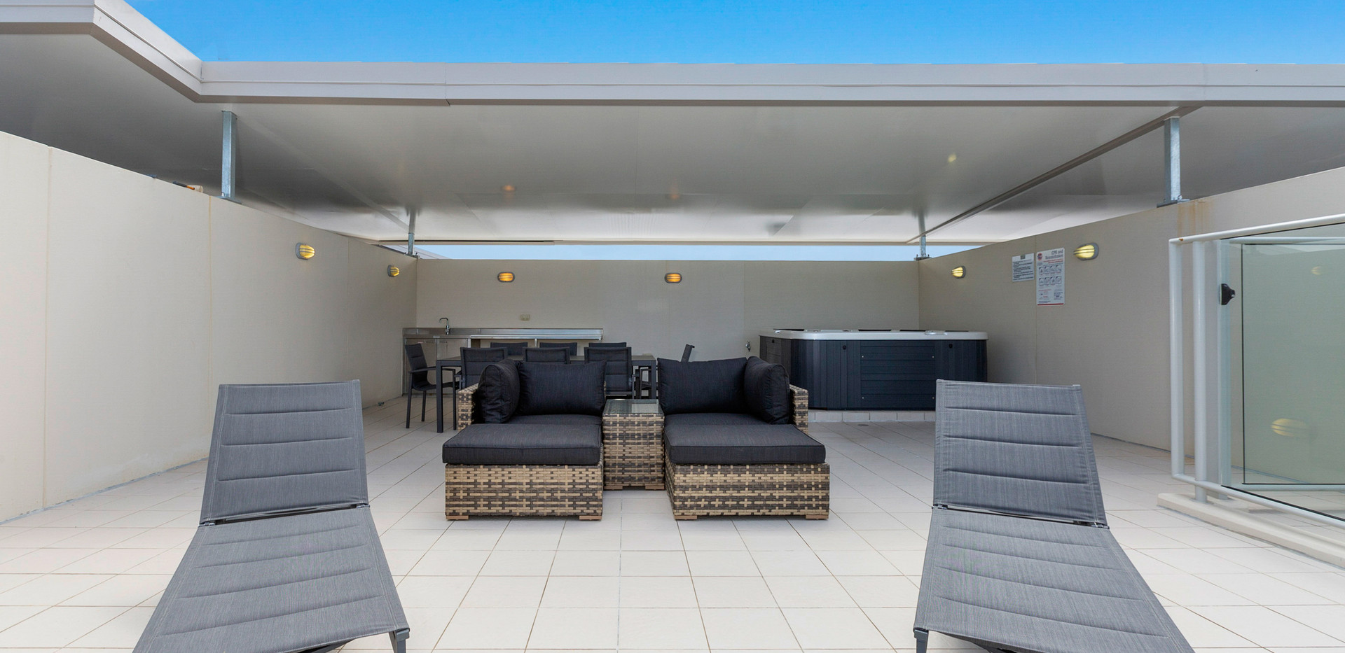 Lounge Area on Private Roof Top