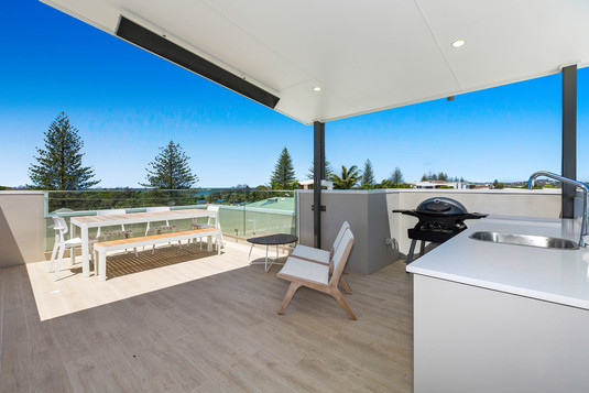 Top Deck of the Property with Ocean Views