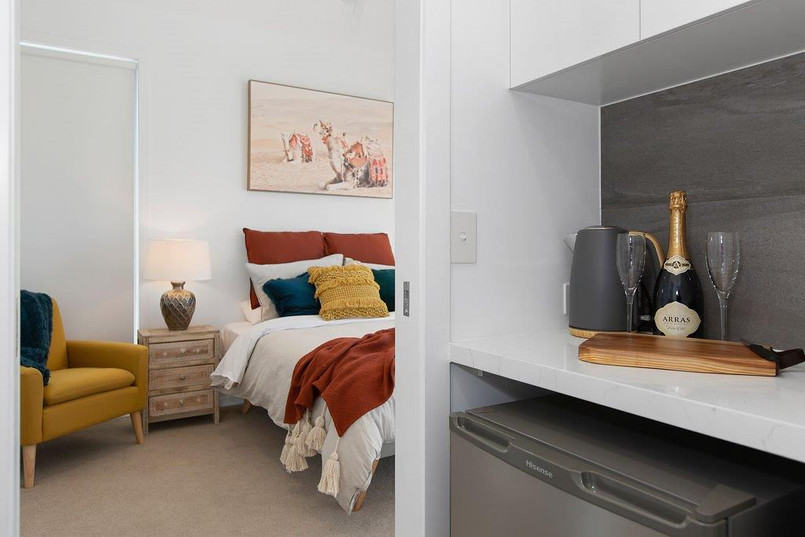 Master bedroom with walk-in Kitchenette