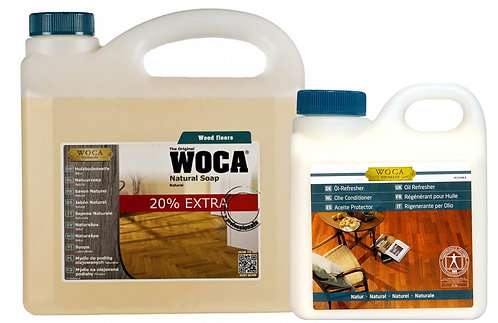 WOCA Holzbodenseife 3L & Öl-Refresher 1L