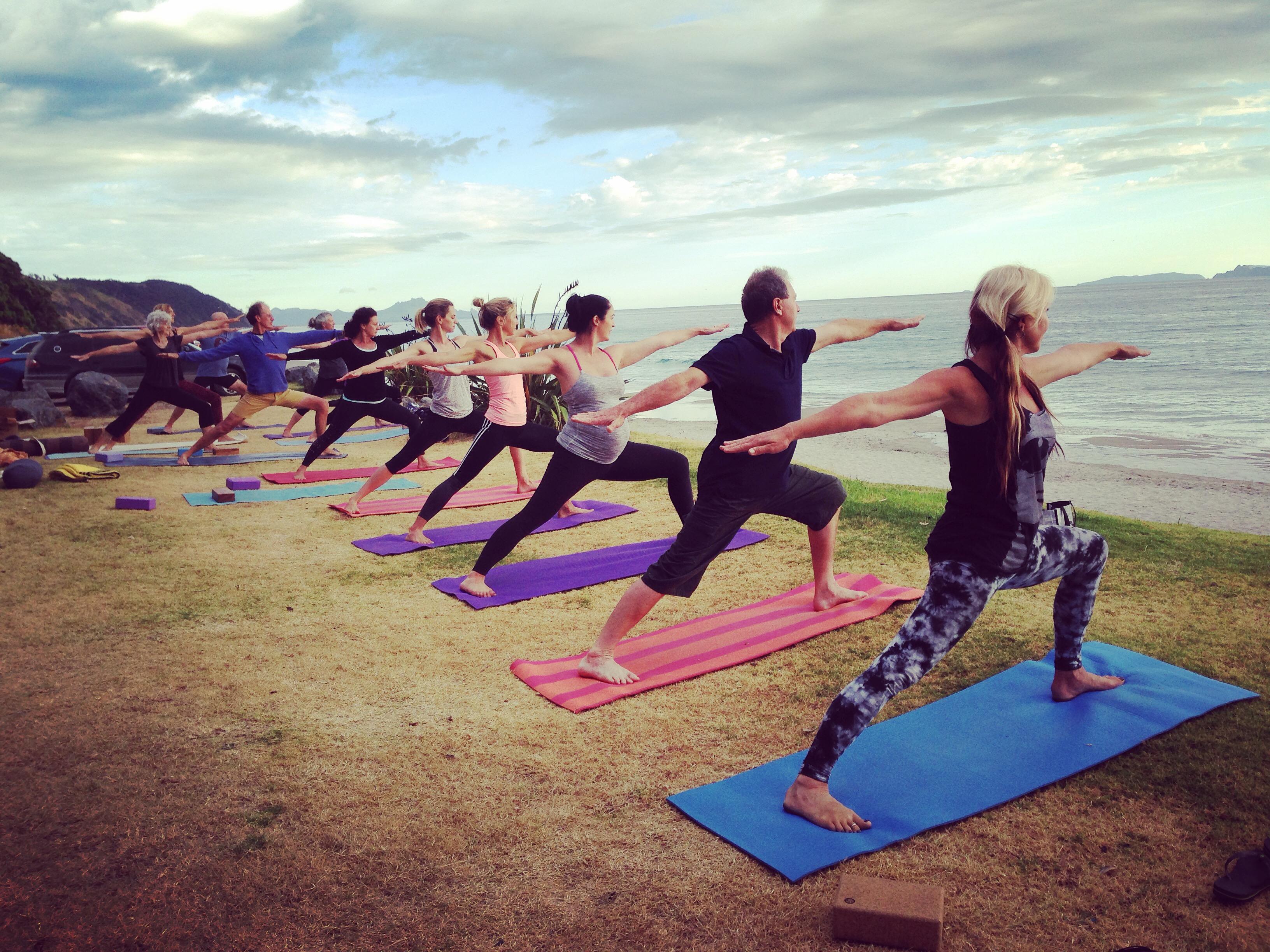 Yoga Mangawhai beach