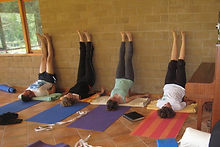 Supported shoulder stand - our last pose of the week end