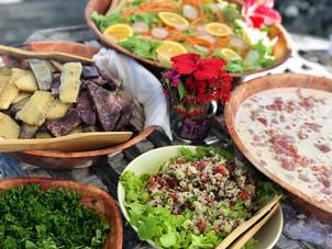 Ika Mata and local salads