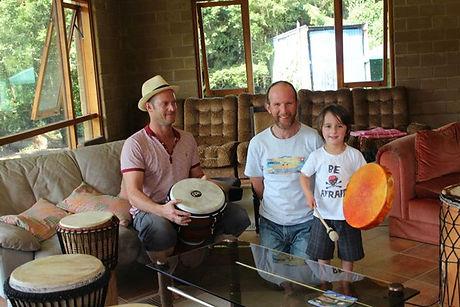 The Parker drumming trio