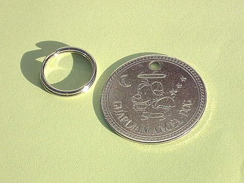 REF 18 - Ronde en Nickel (argentée) Chien d'ange gardien / 30 mm