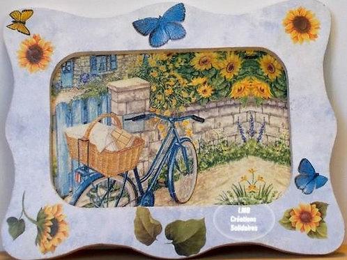 LMB Créations Solidaire - Tableau Vélo bleu