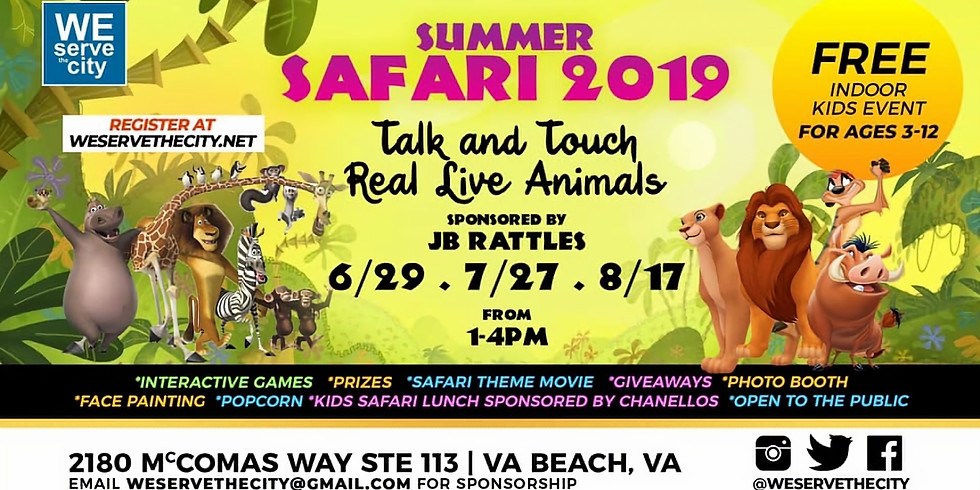 We Got the Kids Summer Safari 2019