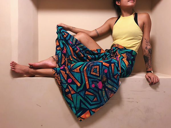 Colourful wrap pants