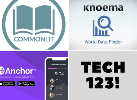 Anchor.fm, Knoema, CommonLit
