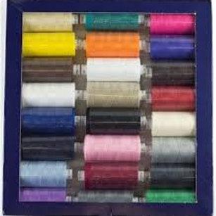 1 Box of 24 x 1000m Moon Threads Dark Colours
