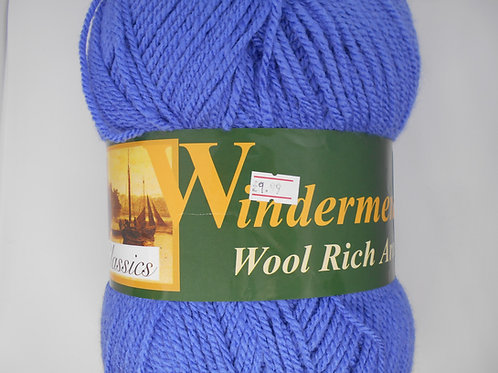 Windermere Wool Rich Aran col 68 Ocean Blue 400g