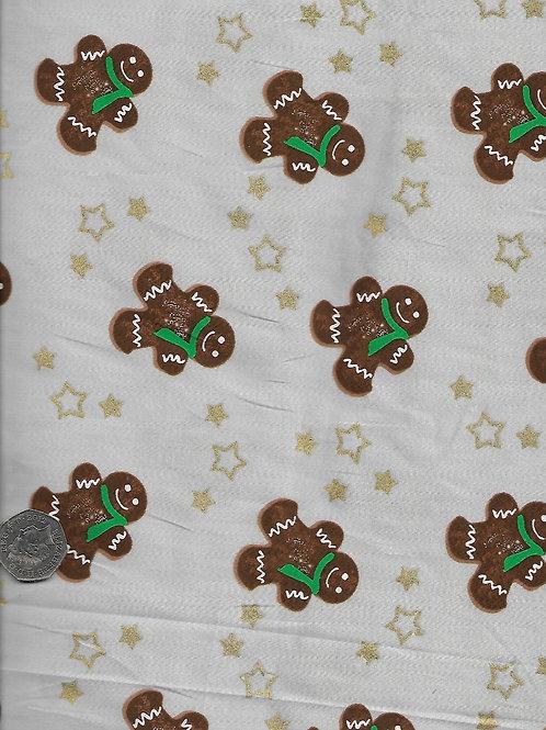 Gingerbread Men on Grey C0077