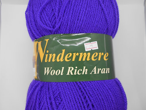 Windermere Wool Rich Aran col 66 Purple 400g