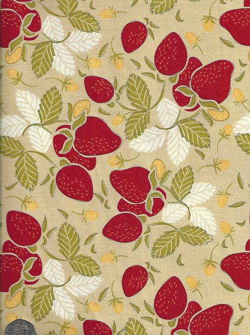 Strawberries on Tan A0721 Nutex 70030 105