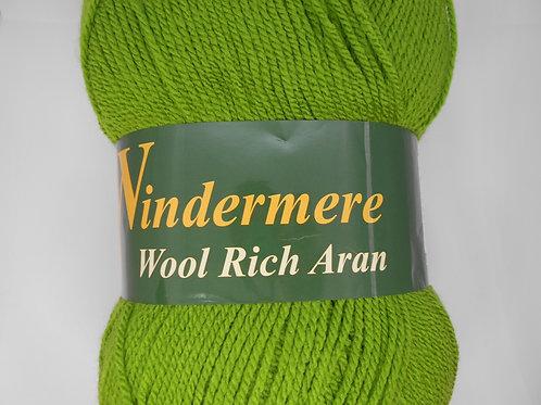 Windermere Wool Rich Aran col 122 Apple Green 400g