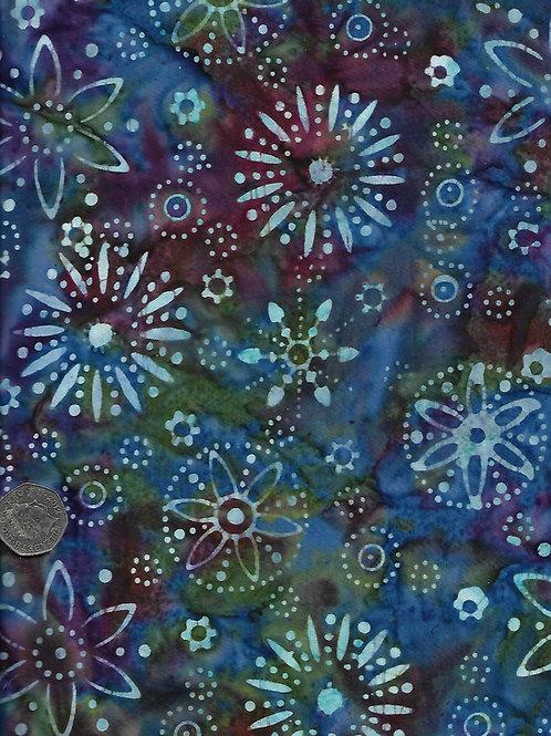 Blue on Oil Slick Batik Nutex 37710 109 A0291