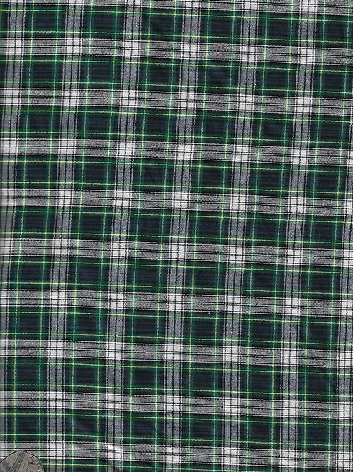 Blue, Green and White Tartan A0601