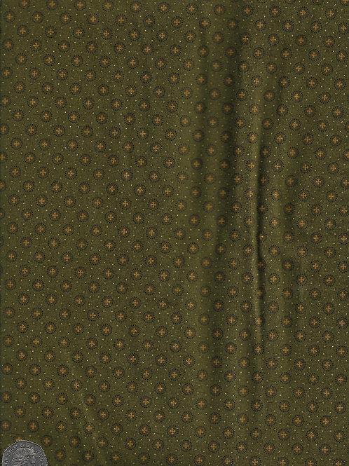 Circles, Crosses & Dots on Dark Green A0686 Andover