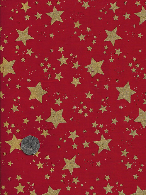 Gold Stars on Red C0070