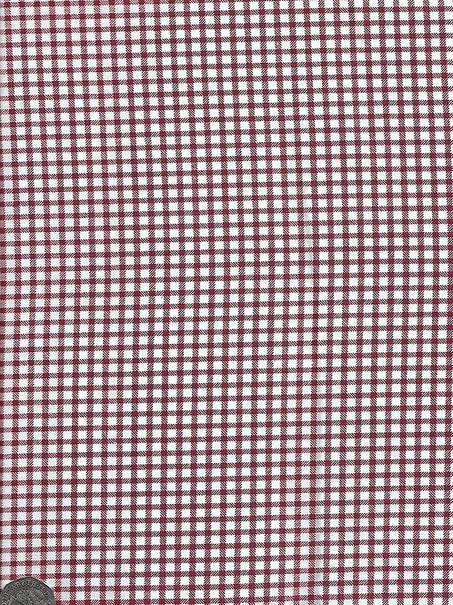 """Burgundy & White Check A0817 144cm / 56"""""""