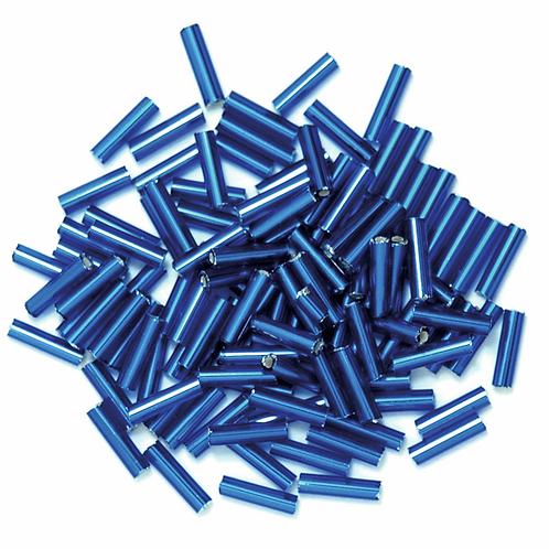 6mm Bugle Beads Royal Blue CF01/05005