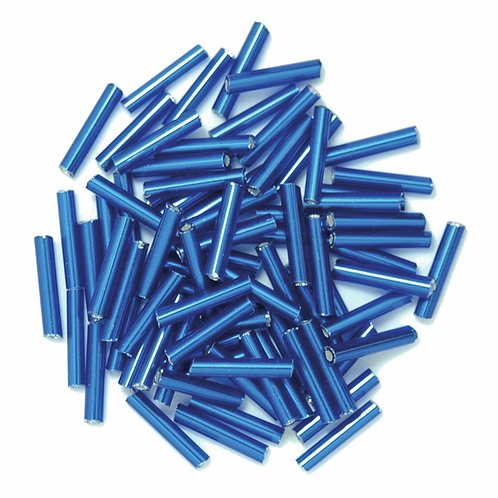 9mm Bugle Beads Royal Blue CF01/10005