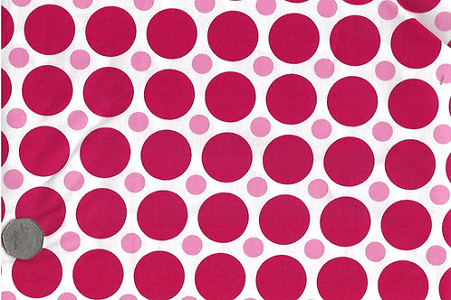 Red & Pink Dots on White A0175