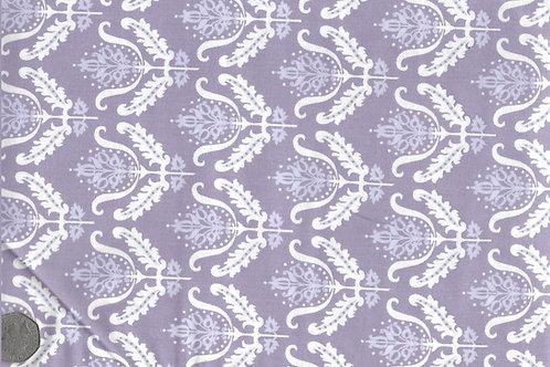 White & Mauve Flowers on Purple A0163
