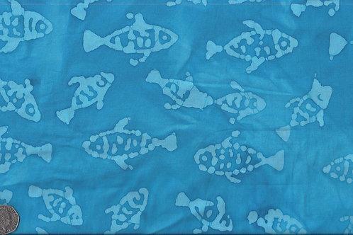 Fish Batik 1 Light Blue A0041