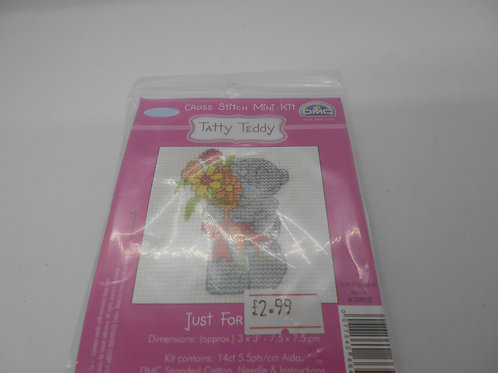 Mini Cross Stitch - Tatty Teddy - Just For You