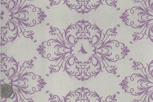Purple Flora & Fauna on Beige A0153 Gutermann