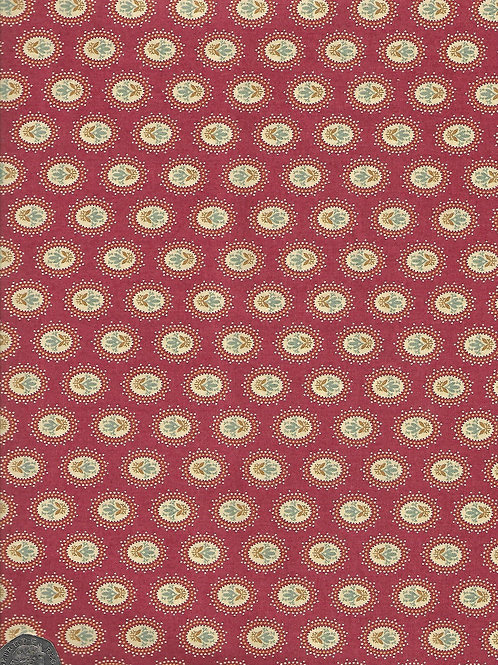 Flower Medallions on Russet A0668 Andover