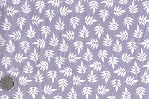 White Leaves on Purple A0151