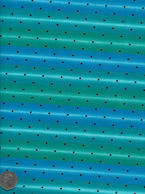 Green & Blue Stripes A0632