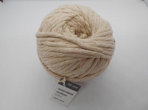 Macrame Cotton Cord col 70 Natural 50mtr